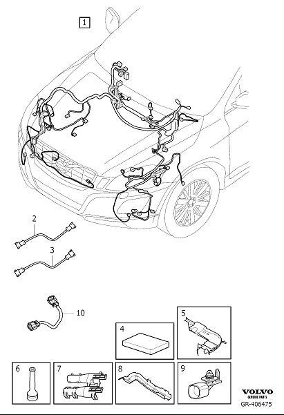 31412368 - Wiring Harness  Cable Harness Engine Compartment  If The Vehicle Is