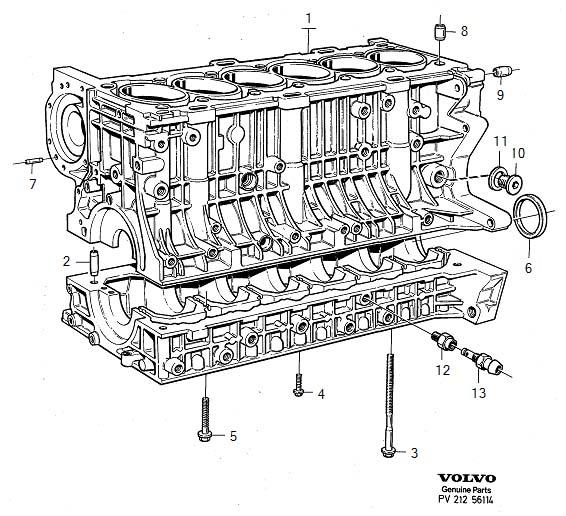 1998 Volvo S90 3 0l 6 Cylinder Fuel Injected Engine Crankshaft Seal  Sealing Ring