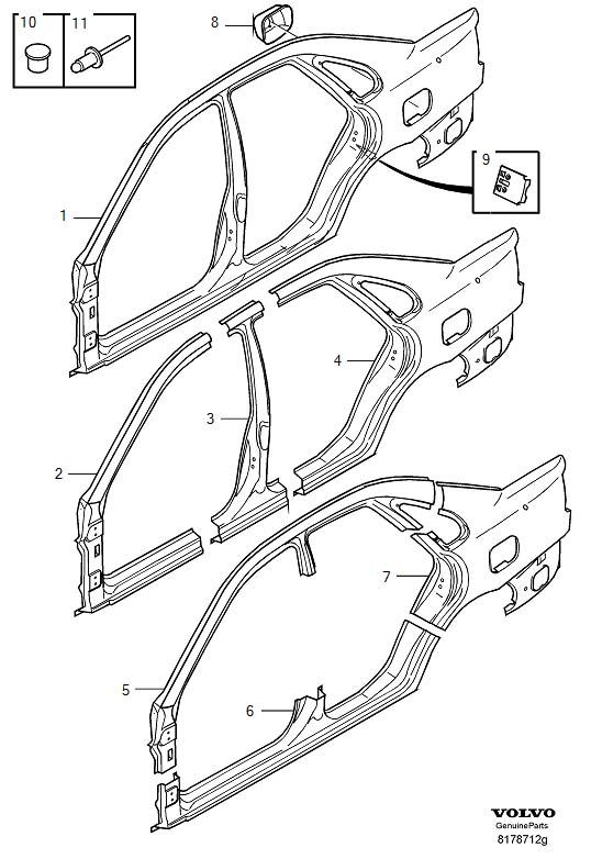 Body And Interior: Engine Diagram For Volvo S40i At Hrqsolutions.co